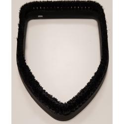 Bristled frame for triangular brush Vacuum and Steam