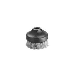 Medium round brush stainless bristles