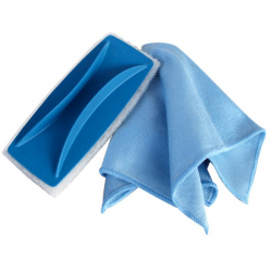 Handle for microfiber cloth